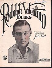 Rudolph Valentino Blues 1922 Sheet Music