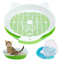 Sifting Cat Litter Box Trays Pet Puppy Waste Toilet Easy Clean Kitten Pan Framed