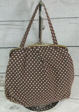 St Michael M&S Vintage Polka Dot Brown Makeup Cosmetic Vanity Toiletry Bag