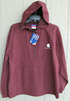 NEW PEBBLE BEACH 1919 1/4 ZIP PULLOVER GOLF HOODED JACKET WINDBREAKER MEDIUM NWT