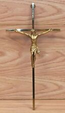 """INRI 10"""" (inch) Gold Tone King of the Jews Jesus Crucifix Wall Hanging Only"""