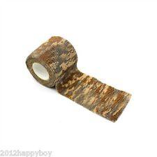 Camouflage Woodland Camo Tape 5cm x 4.5m Rifle Wrap Fabric Gun Hunting Stealth