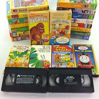 Lot 23 Kids VHS Video Tapes Dr Seuss Berenstain Bears Robert Munsch Eric Carle