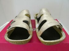 Alegria  Venice Leather Triple Strap Slides Sandals Gold US 10 M EU 40