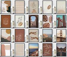 More details for burnt orange framed wall art terracotta themes gallery wall modern home prints