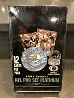 1991 PRO SET PLATINUM FOOTBALL SERIES 1 FACTORY SEALED WAX BOX 36 ct PACKS