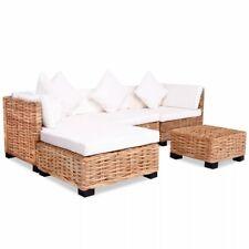 vidaXL Loungeset Natuurlijk Rattan 14-delig Lounge Set Terrasmeubel Tuin Set