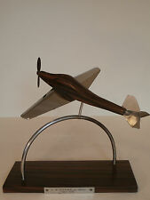 ART Deco Scrivania Modello Aereo Cromo e legno Zebra AVION Flugzeug