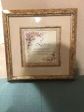 """""""Love Is"""" Framed 10x10 Picture with Gold Frame"""