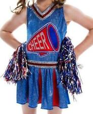 Girls Cheerleader Suit L 12/14  Halloween SPARKLE Costume & POM POMS  NEW