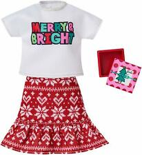 Merry & Bright Christmas Outfit Barbie Clothing Set