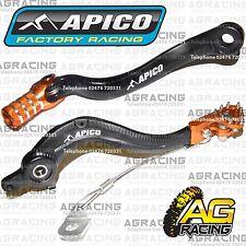 Apico Black Orange Rear Brake & Gear Pedal Lever For KTM EXCF 530 2008 Motocross