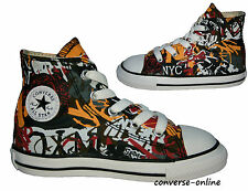KIDS Toddler Boy Girl CONVERSE All Star GRAFFITI HI TOP Trainers Boot SIZE UK 10