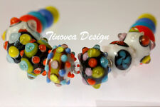 Rondell Lampwork Glass Beads Tropical Memory