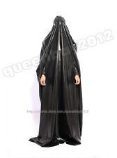 100% Latex Rubber Gummi Robe Catsuit Gown Suit Hood Mask Burqa Bodysuit Zentai