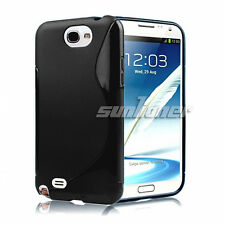 For Samsung Galaxy Note II, Note 2, GH-T889 Black TPU Case Cover Skin