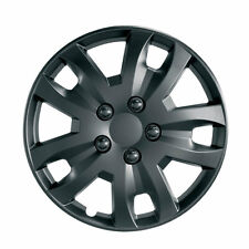 "Jet 14"" BLACK Car Wheel Trim - SINGLE TRIM - Plastic Cover BLACK - Universal"