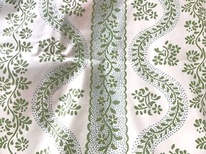 Sister Parish Dolly Green and Blue Cotton  Fabric  57 in. x 94 in. (2.6 yds.)