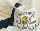 Vintage Fez Hat White Felt  Long Black Tassle Zamora No 135 Camden NJ
