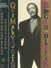 Quincy Jones Back On The Block CASSETTE ALBUM Hip Hop, Jazz, RnB/Swing, House