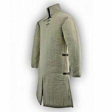 Thick Padded White Gambeson Aketon Doublet Arming Jacket Armor
