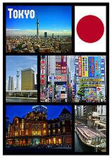 TOKYO, JAPAN - SOUVENIR NOVELTY FRIDGE MAGNET - SIGHTS / TOWNS - GIFT - NEW