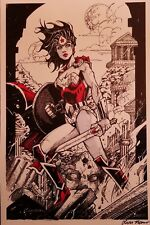 "Wonder Woman 12"" X 17"" Signed Art Print SDCC comic con Oliver Nome"