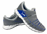 Puma Osu NM Mens No Lace Sneaker Steel Gray Limoges White Size 7 185685-29 NEW