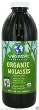 Wholesome Sweeteners Organic Kosher Blackstrap Molasses, 32 Fl. oz. 32 ounces