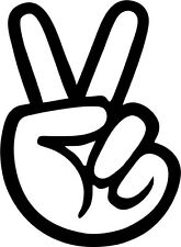 PEACE HAND  Vinyl Decal 150mm / 6""