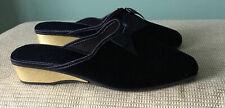 Marks and Spencer Ladies Velvet Slippers Size 8 UK BNWT