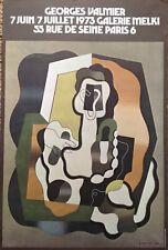 AFFICHE ANCIENNE GEORGES VALMIER 1930  EXPOSITION GALERIE MELKI  1973