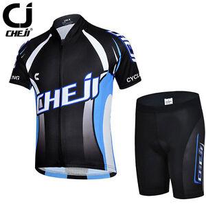CHEJI Classic Children Cycling Jersey and Shorts Set Boys Cycling Clothing Kit
