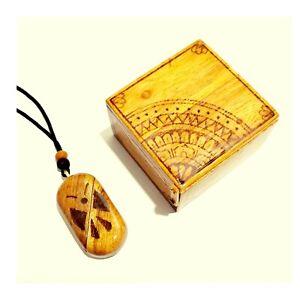 Illusionist Necklace Handmade Wood Photo Locket Necklace Pendant Couple gift