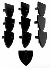 LEGO LOT OF 10 NEW PLAIN BLACK TRIANGULAR SHIELDS CASTLE WEAPONS PIECES