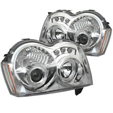 Jeep 05-07 Grand Cherokee Chrome DRL Dual Halo LED Projector Headlights Lamp