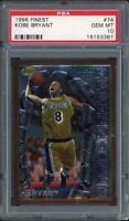KOBE BRYANT 1996 TOPPS Finest RC #74 No Coating Rookie Lakers PSA Gem Mint 10