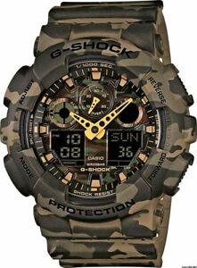 Casio G-Shock Camo Brown Military Army Mens Watch GA-100CM-5A - Camouflage