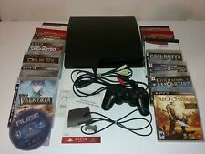 Sony PlayStation 3 320Gb Charcoal Black Console (Cech-3001B) with 14 Games