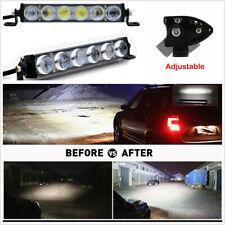 Car SUV Off road 7inch 60W Spot Flood Combo Slim LED Work Light Bar Single Row