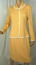 St John Collection Suit Skirt Jacket Santana Knit Apricot Peach Size 6