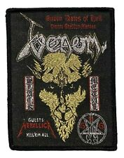 More details for venom - 7 dates of hell - glitter woven patch thrash black metal metallica black