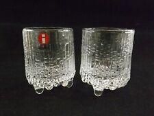 TWO VINTAGE SCHNAPPS GLASSES BY IITTALA THULE / DESIGNED TAPIO WIRKKALA REF231/5