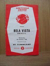 Sheffield United v Bela Vista 1958 - 1959 08/10/58