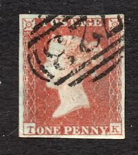 Qv 1841 Sg 8-12 ( T K ) 1d red brown - 4 margin with 723 cancel of Southampton.