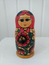 Russian Nesting/Stacking Wooden Dolls Set Of 5