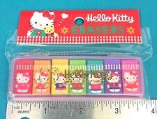 "Vintage Sanrio Hello Kitty 7 Mini 1"" Pencil Erasers Set In Case NIP Kawaii 1994"