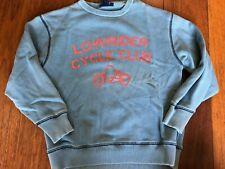 boys MINI BODEN SWEATSHIRT low rider cycle club BLUE shirt VINTAGE STYLE sz 9/10