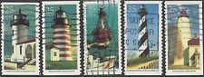 USA 1990 LIGHTHOUSES (5) Used SG2516-20