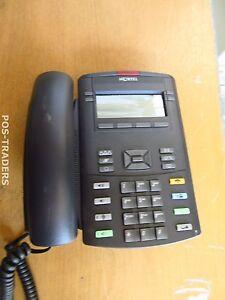 Nortel 1220 IP VoIP Phone Schwarz Telephone Black NTYS19 INCL HANDSET & STAND